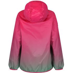 Regatta Printed Lever Jacket Kids Hot Pink/Island Green